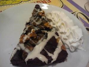 Brownie amb nata