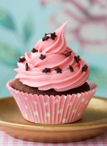 Cupcake a punt per rebre la primera queixalada