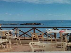 La terrassa de l'Hotel Empúries