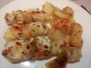 Rap al forn amb patates