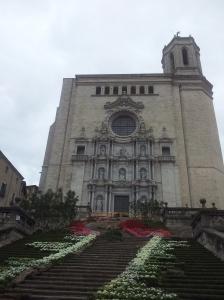Estora de flors, al peu de la Catedral