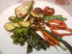 Plat de verdures a la brasa