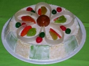 La fruita confitada corona aquest pastís