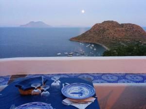 La terrassa panoràmica on se serveix el sopar